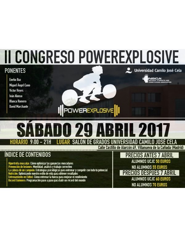 II CONGRESO POWEREXPLOSIVE  29 ABRIL 2017 [MADRID]